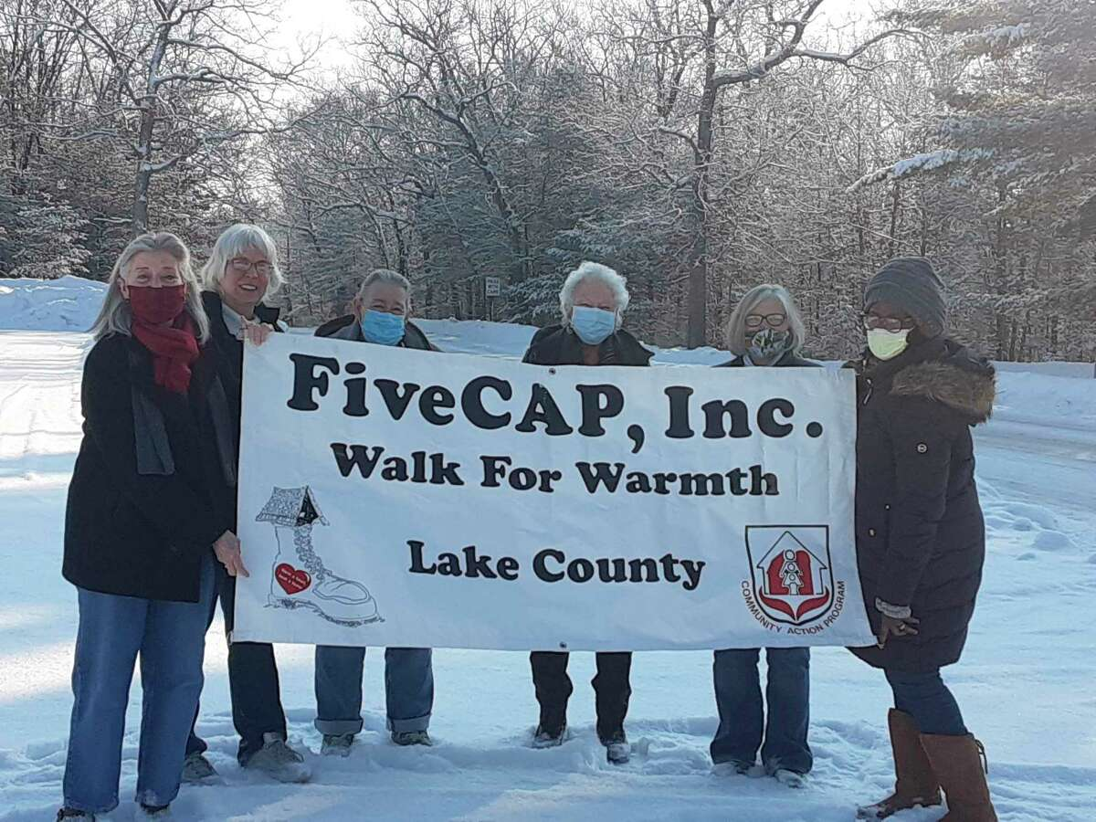 Walk for Warmth participants walked a brisk, but scenic route in Baldwin, raising funds for emergency heating that will stay in Lake County. (Submitted photo)