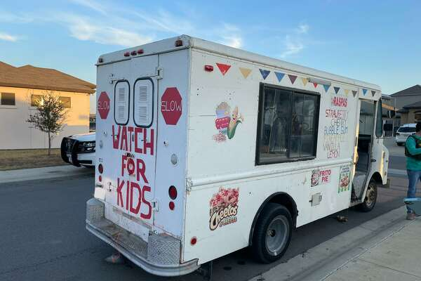 U.S. Border Patrol and the Texas Department of Public Safety said this raspa truck was used in a human smuggling attempt. Authorities detained two suspects and apprehended 14 immigrants who had crossed the border illegally.