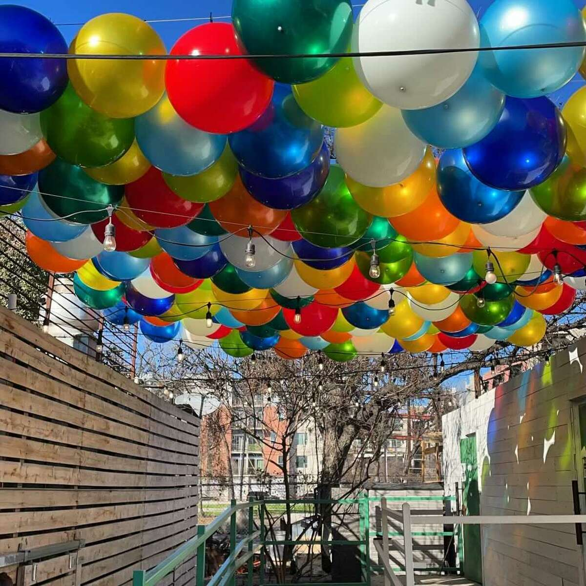 Elsewhere took out its umbrella ceiling and replaced it with 240 big vinyl balloons, according to owner Terrin Fuhrmann.