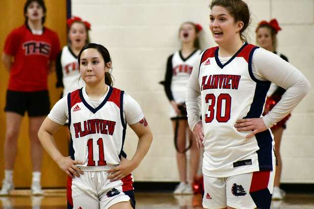 Plainview seniors Emily Sigala (11) and Kylie Bennett were each named to the first team All-District honor squad for District 3-5A. Bennett also earned Co-Offensive MVP honors.