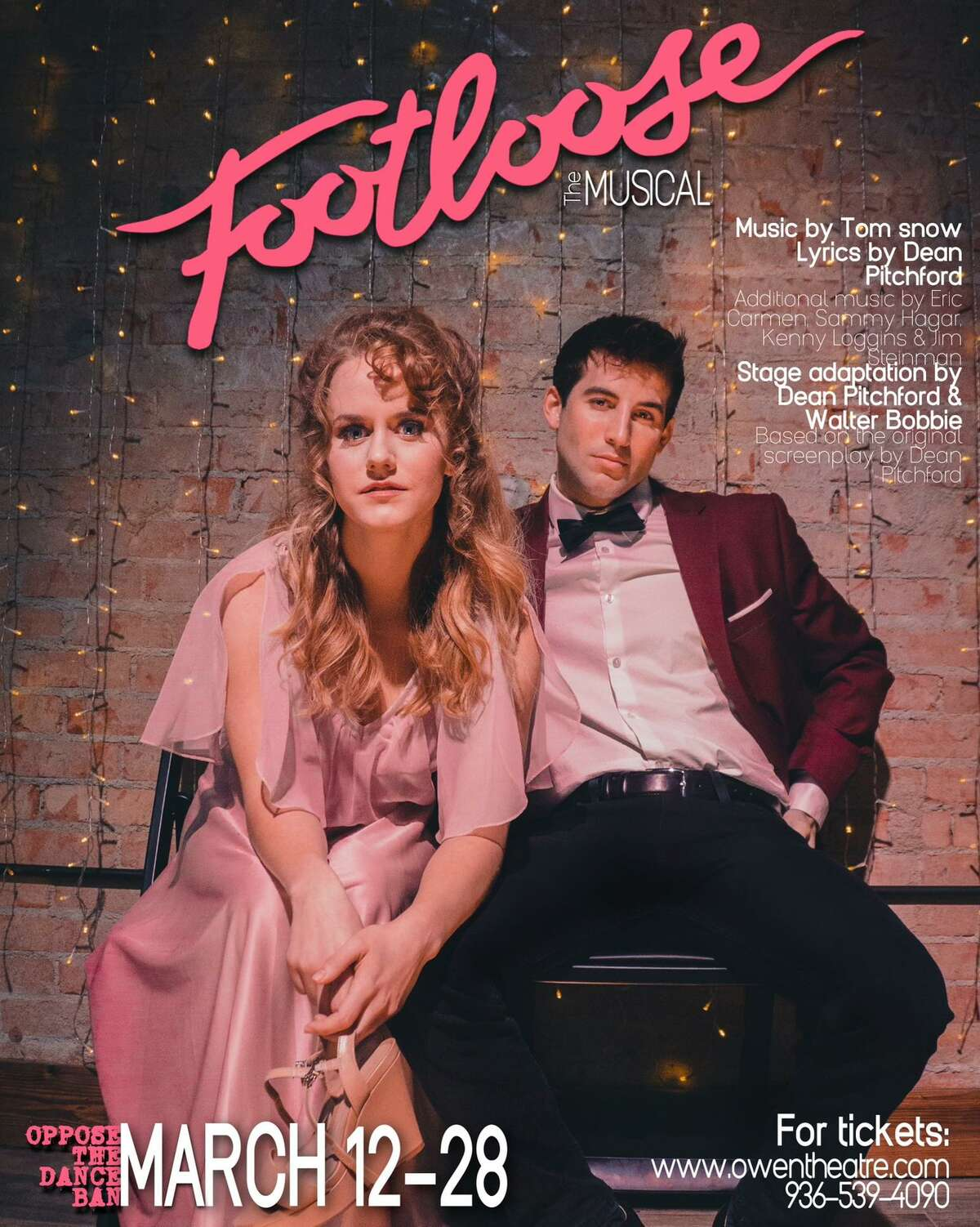 """The Players Theatre Company presents """"Footloose"""" March 12-28 at the Owen Theatre in downtown Conroe. Call 936-539-4090 or visit www.owentheatre.com."""