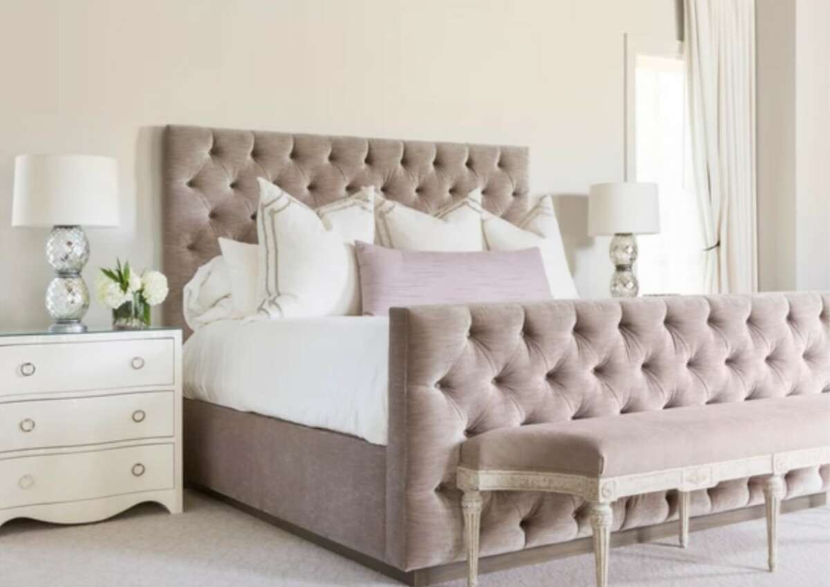 A beautiful custom bedroom, designed by local furniture makers at The Joseph Company, illustrates the remarkable craftsmanship offered by Houston artisans.
