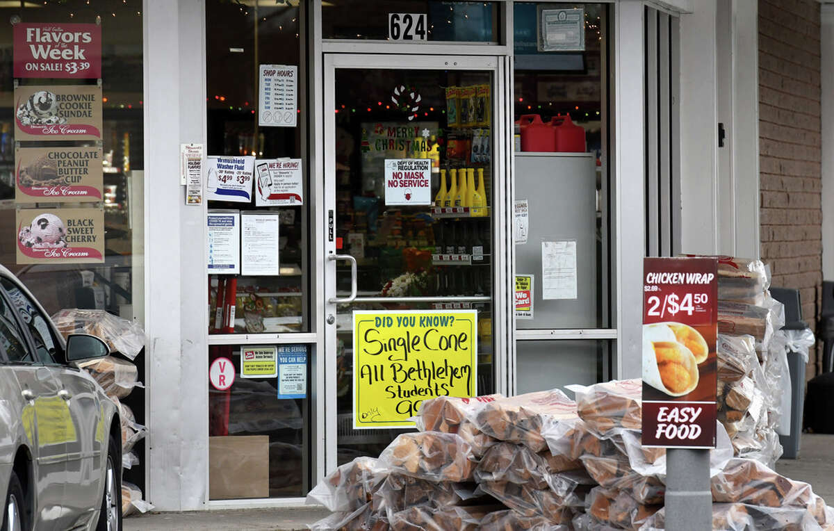 The Stewart's Shops convenience store at Delaware and Elm avenues in Delmar, N.Y. Stewart's is giving up on plans to expand the location. (Will Waldron/Times Union)