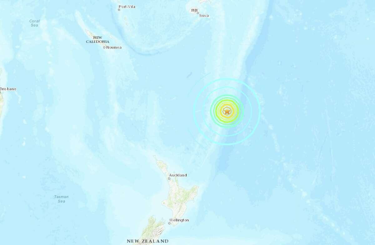 The United States Geological Survey reports a preliminary magnitude 7.3 earthquake struck near Gisborne, New Zealand