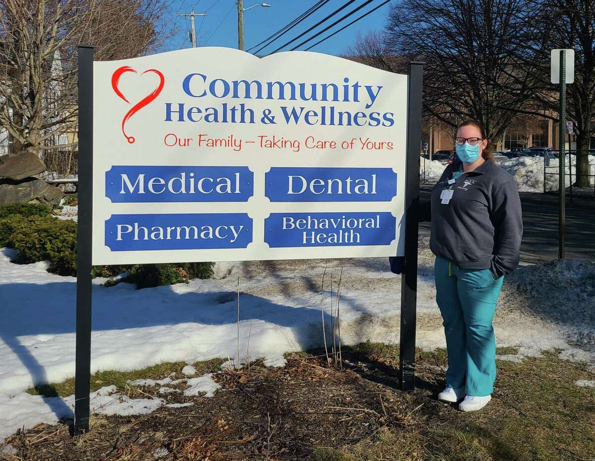 Marissa O'Brien, a nursing student at Northwestern Connecticut Community College in Winsted, is one of four students working at Community Health & Wellness Center in Torrington during her final semester.
