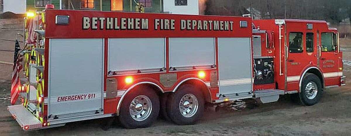 A file photo of a Bethlehem, Conn., fire engine.
