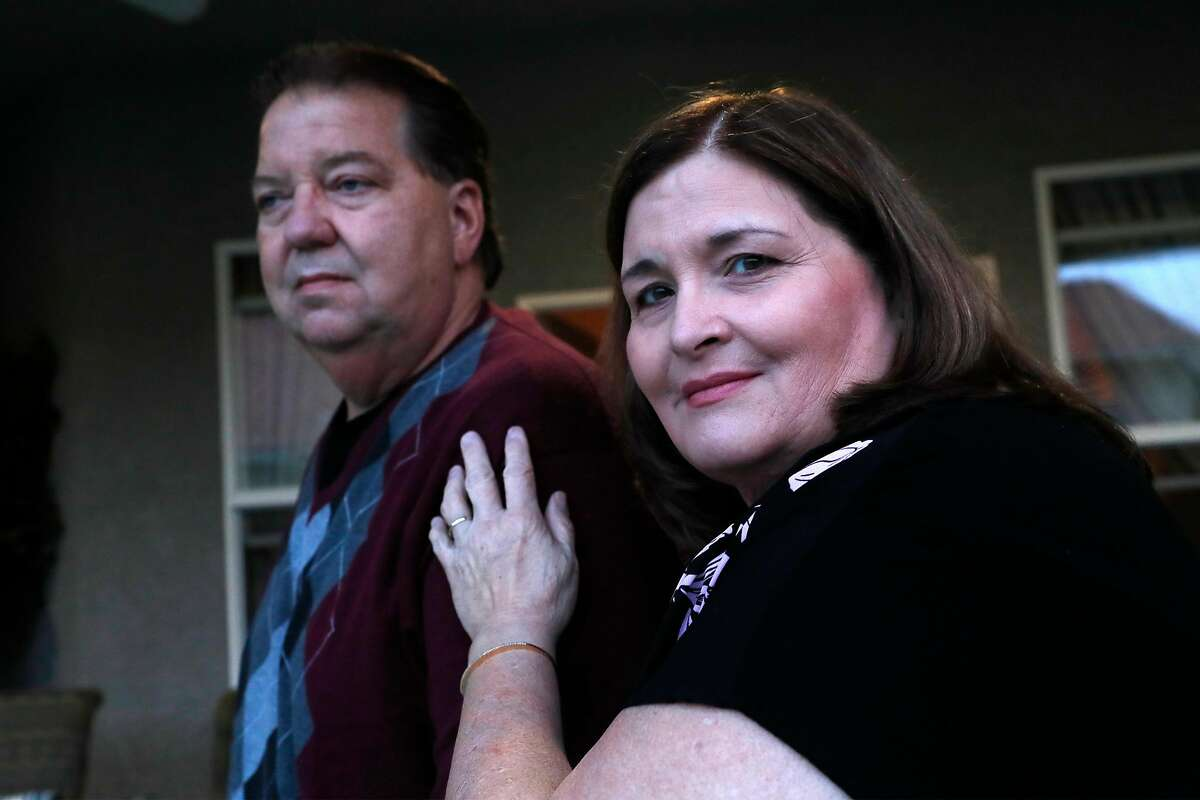 Michael Neky and Gina Pallotta at their home in Modesto.