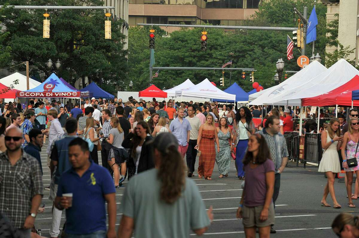 Scenes from the opening night of Alive@Five in Columbus Park in Stamford, Conn., on Thursday, July 9, 2015. The concerts begin at 5 p.m. and run for six Thursdays, July 9 - August 13. Hearst Connecticut Media is a sponsor of the event.
