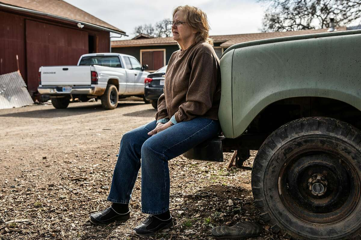 """Middletown resident Rebecca Pledger, a retired nurse, at her home on Butts Canyon Road. """"I like our small, cozy community,"""" she said. """"But I realize there's always going to be change."""""""