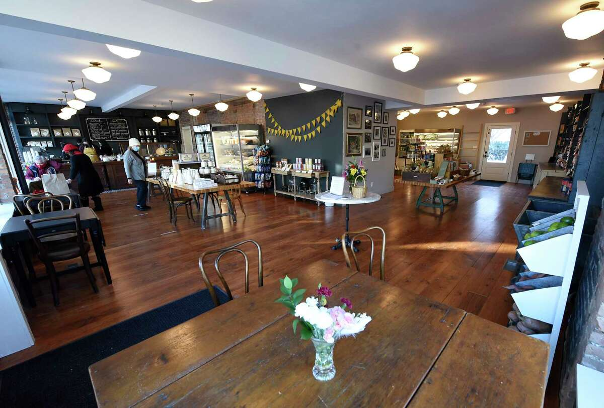 Interior of the rehabbed Arthur's Market located in the city's Stockade neighborhood on Thursday, March 4, 2021 in Schenectady, N.Y. (Lori Van Buren/Times Union)