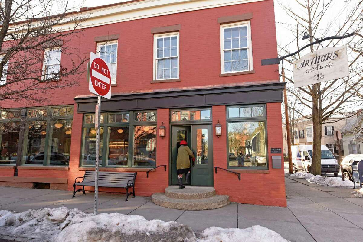 Exterior of the rehabbed Arthur's Market located in the city's Stockade neighborhood on Thursday, March 4, 2021 in Schenectady, N.Y. (Lori Van Buren/Times Union)