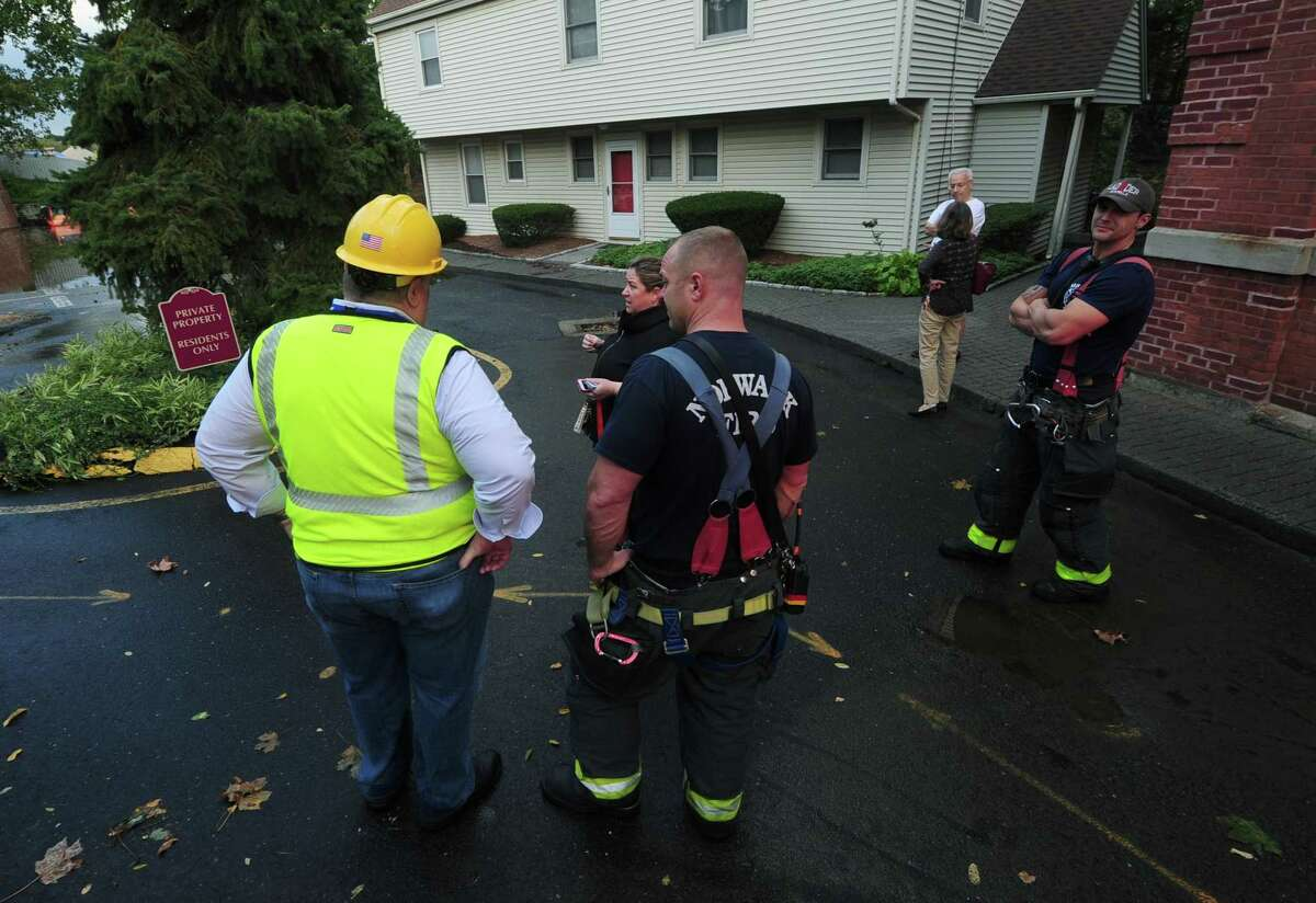 Norwalk Fire Department and SNEW workers respond after a water main break on Putnam Ave in Norwalk in 2017