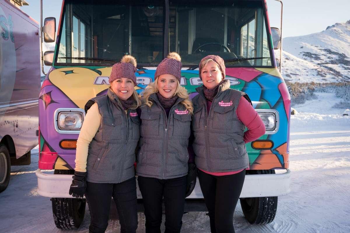 Meatball Mamas team members Flora Londre, Aly Romero and Jocelyn Denson, as seen on Season 14 of