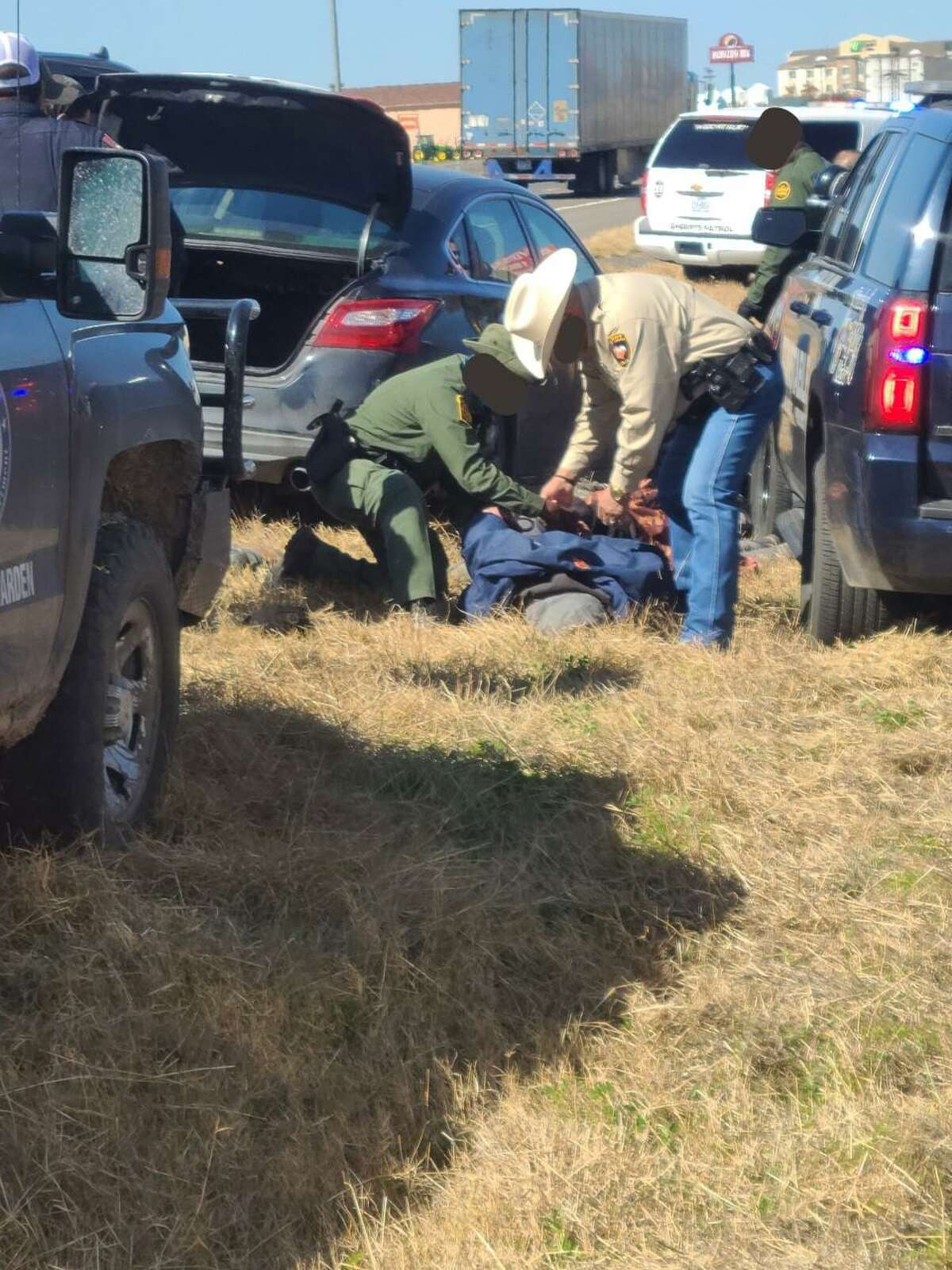 Law enforcement agencies combined efforts to stop a human smuggling attempt.