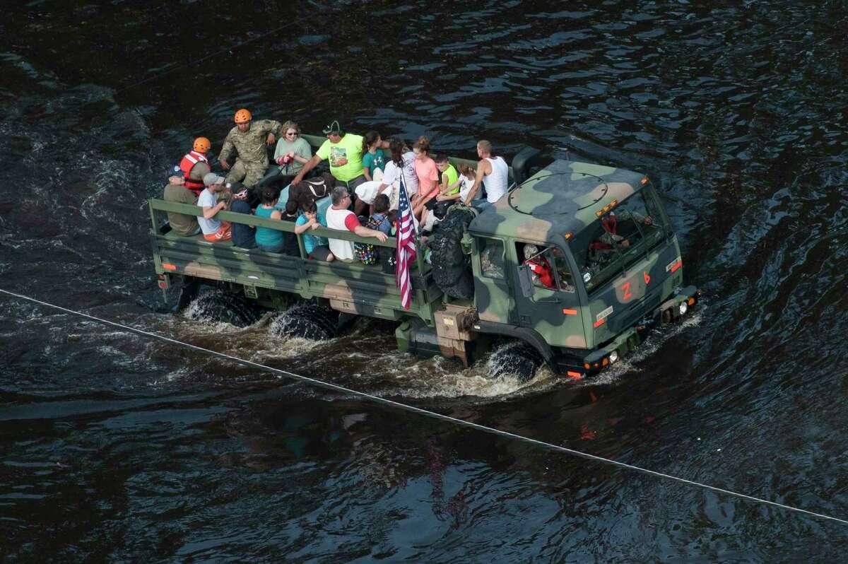 "A scene from '100 Boats: A Hurricane Harvey Documentary"""