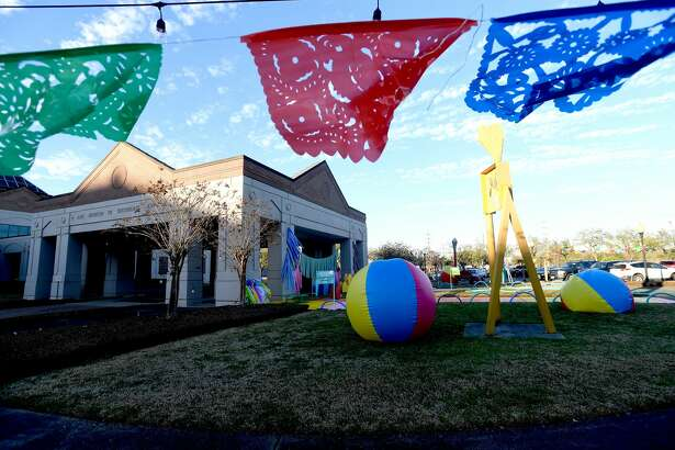 First Thursday kicked off Eat Beaumont Restaurant Week with jazz at the Art Museum of Southeast Texas, where the outdoor installation by Houston artist Shelbi Nicole was on display. Photo made Thursday, March 4, 2021 Kim Brent/The Enterprise