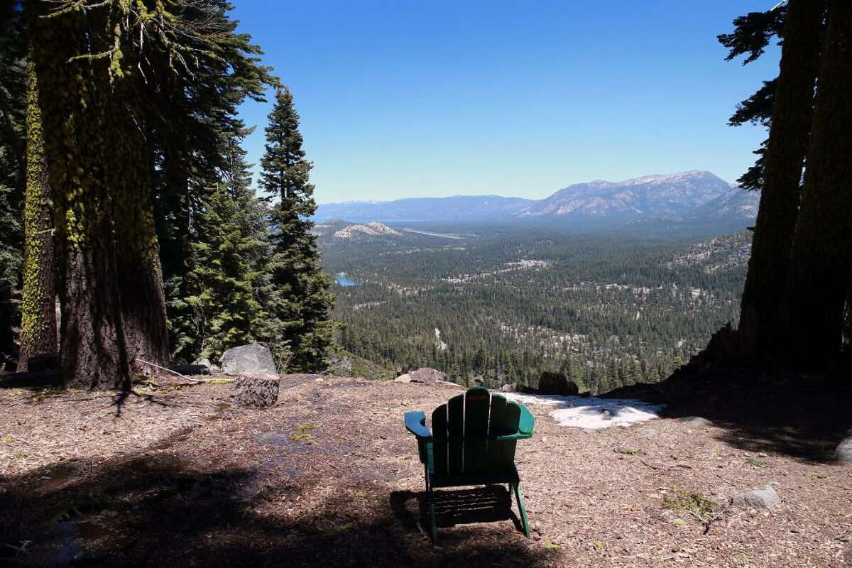 South Lake Tahoe can be scene from Berkely's Echo Lake Camp., Wednesday, June 14, 2017.