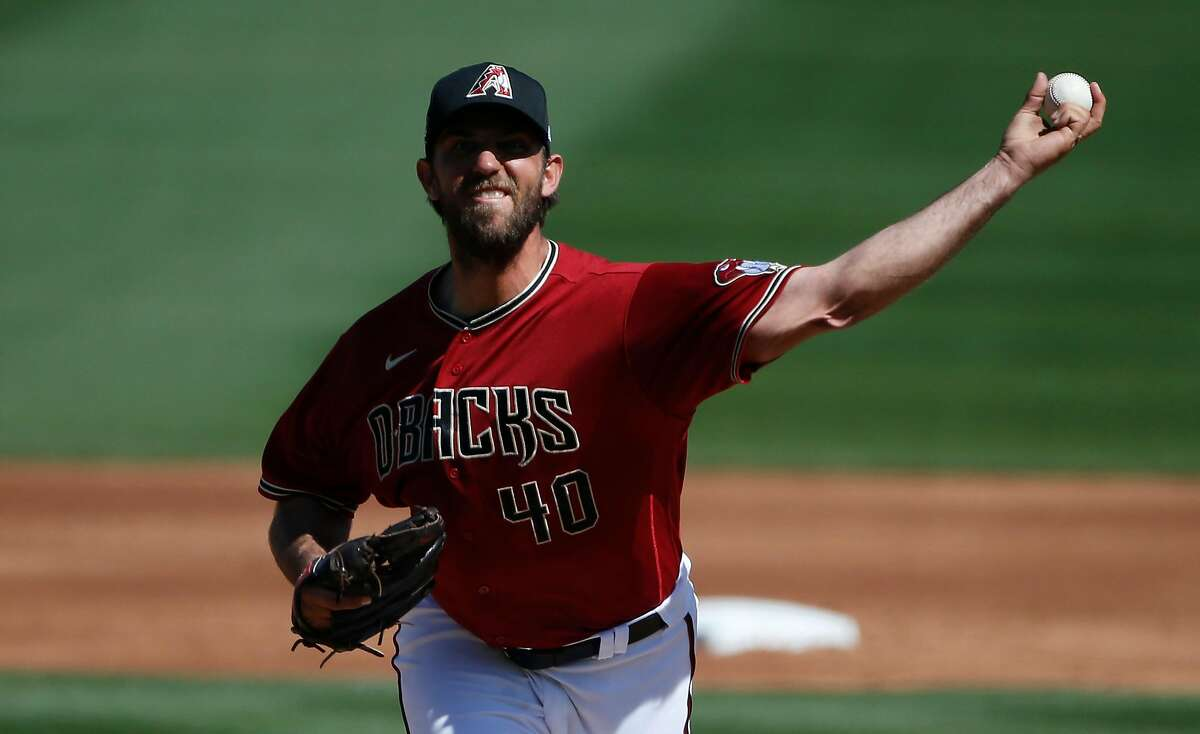 Arizona's Madison Bumgarner struck out six in two innings.