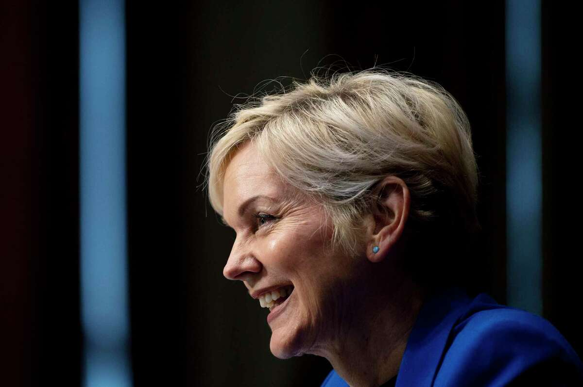 Energy Secretary Jennifer Granholm was among the top Biden administration officials who appeared at the annual CERAWeek by IHS Markit conference to pitch the oil and gas industry on the administrations climate policies.