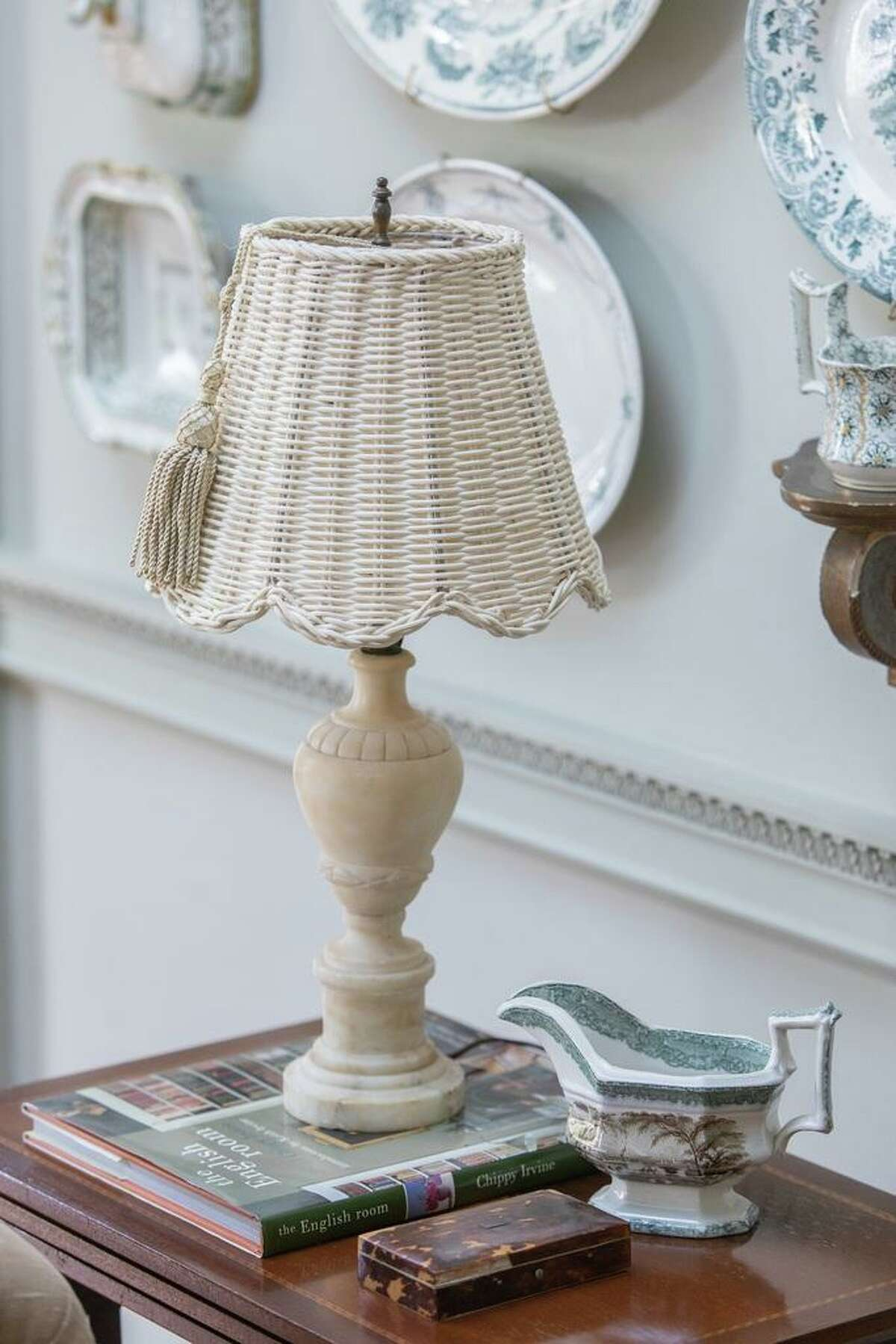 Designer Suzanne Duin describes the shades as fitting an English country manner, a coastal style home or one aiming for Boho chic.