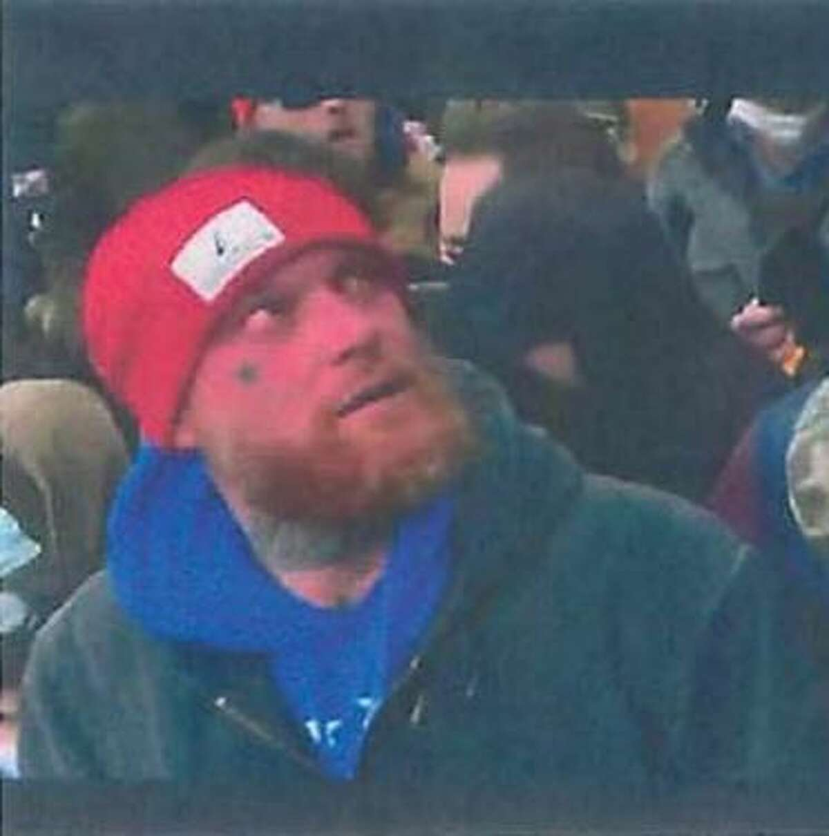Houston man Shane Jenkins at the U.S. Capitol invasion on Jan. 6, according to federal court documents.