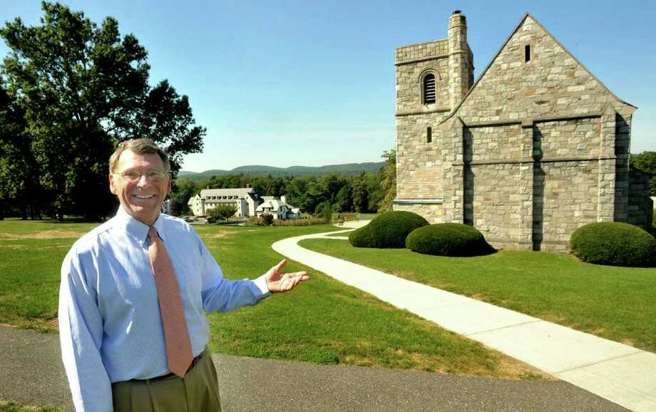 Canterbury Headmaster Thomas Sheehy talks about the private school in New Milford from the campus, Tuesday, Sept. 7, 2010. Photo: Michael Duffy / The News-Times