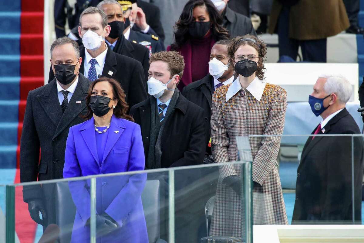 Cole Emhoff and Ella Emhoff at the inauguration of U.S. President-elect Joe Biden