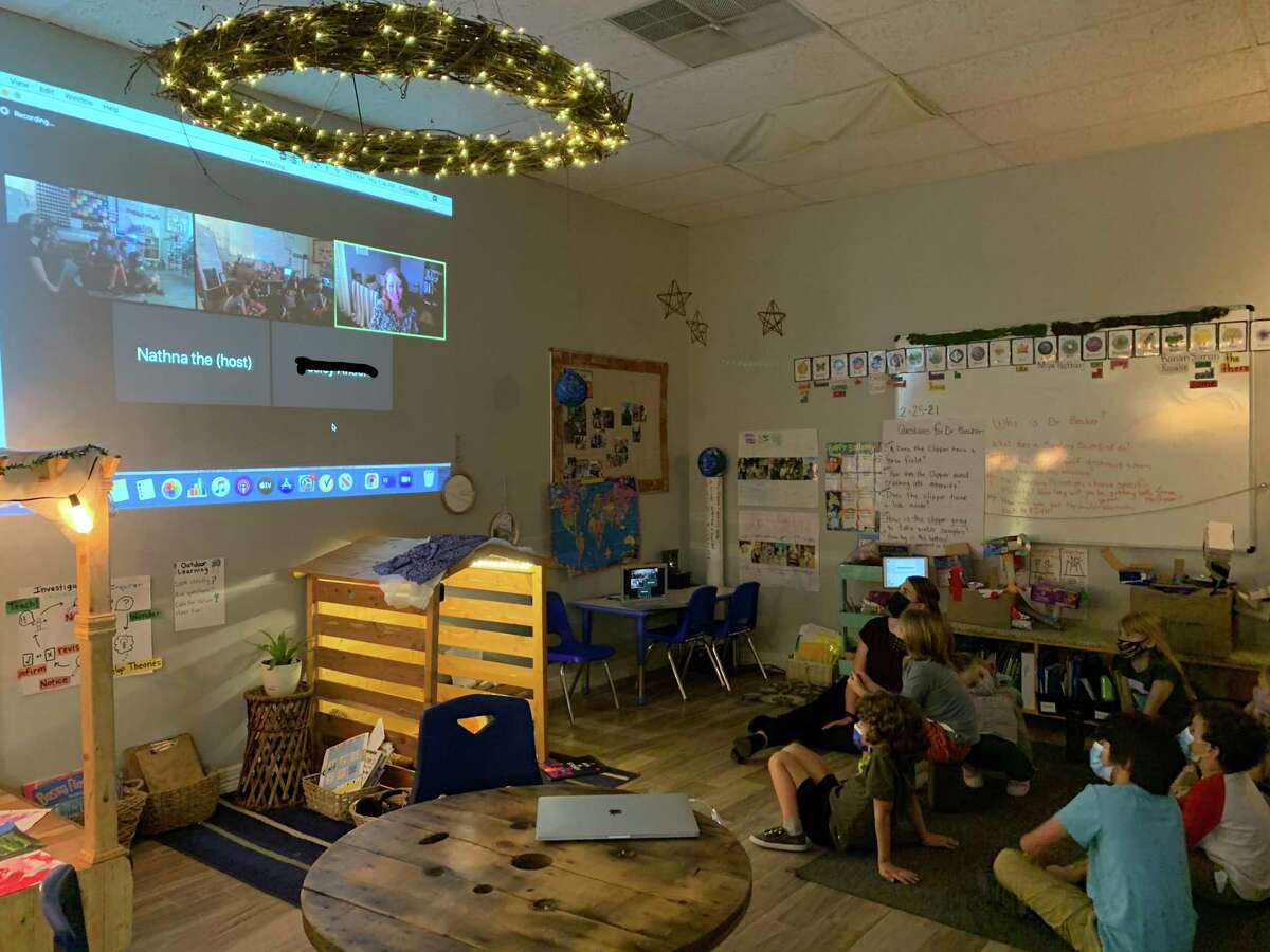 Students at the Discovery School of Innovation in The Woodlands had the opportunity to speak with a Dr. Tracy Becker, a planetary scientist, while studying the NASA Europa Clipper mission to study life on Jupiter's smallest moon.