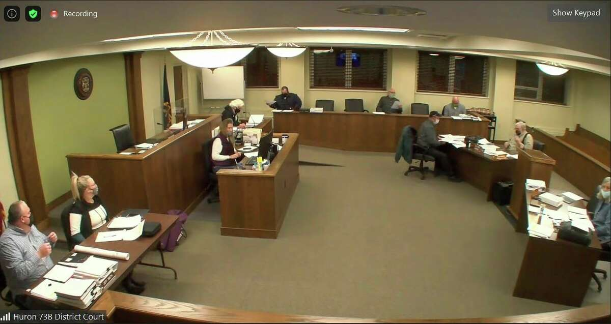 The Huron County Planning Commission Wednesday meeting was held via the Zoom conferencing application. The planners approved a draft of the new master plan and sent it to the county commissioners for their approval. (Robert Creenan/Huron Daily Tribune)