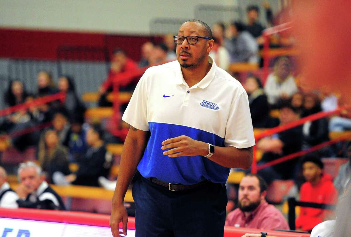 Mens college basketball between Sacred Heart and Central Connecticut in Fairfield, Conn., on Wednesday Jan. 15, 2020. Central Connecticut Head Coach: Donyell Marshall.