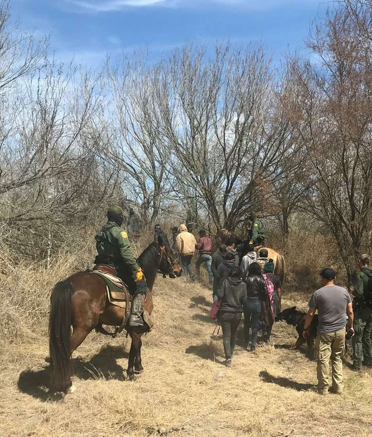 Laredo Sector Horse Patrol unit detained 125 people accused of crossing the border illegally.