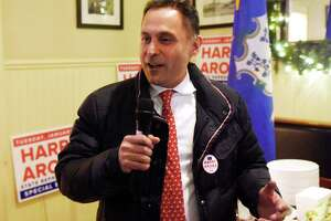 State Rep. Harry Arora celebrates his victory last January in the special election in the 151st District. Arora was reelected last November. The State Election Enforcement Commission has launched an investigation after a complaint was filed about use of campaign funds. Arora has denied the allegations.