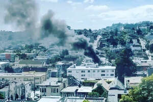 The San Francisco Fire Department responded to a two-alarm fire at a three-story Victorian-style home in Eureka Valley Friday afternoon, near the Castro's commercial district.