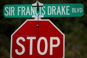 A view of a Sir Francis Drake Boulevard street sign on July 29, 2020 in San Anselmo, California.
