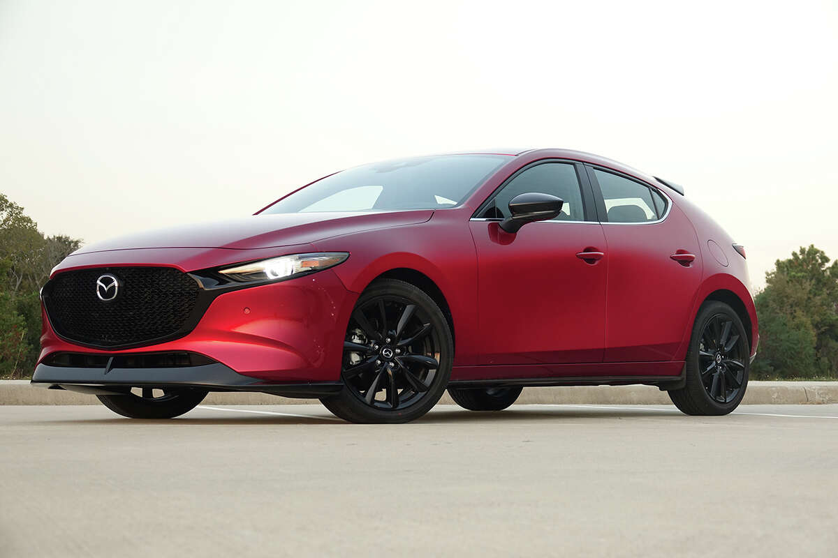 New for 2021, the Mazda 3 2.5 Turbo hatchback starts at $32,045.
