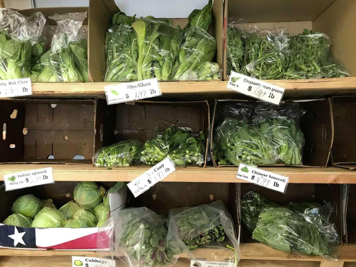 A selection of Asian greens at Vietnam Market.
