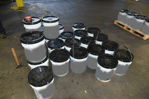 U.S. Customs and Border Protection said these containers had about 1,234 pounds of methamphetamine. The contraband had an estimated street value of approximately $24 million.