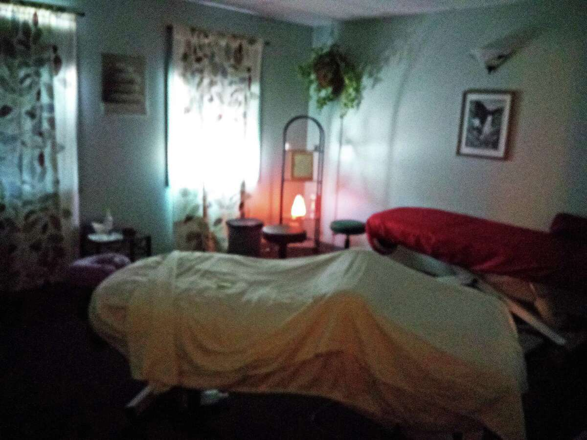 A massage room at Healing Trail Wellness Center in Harwinton.