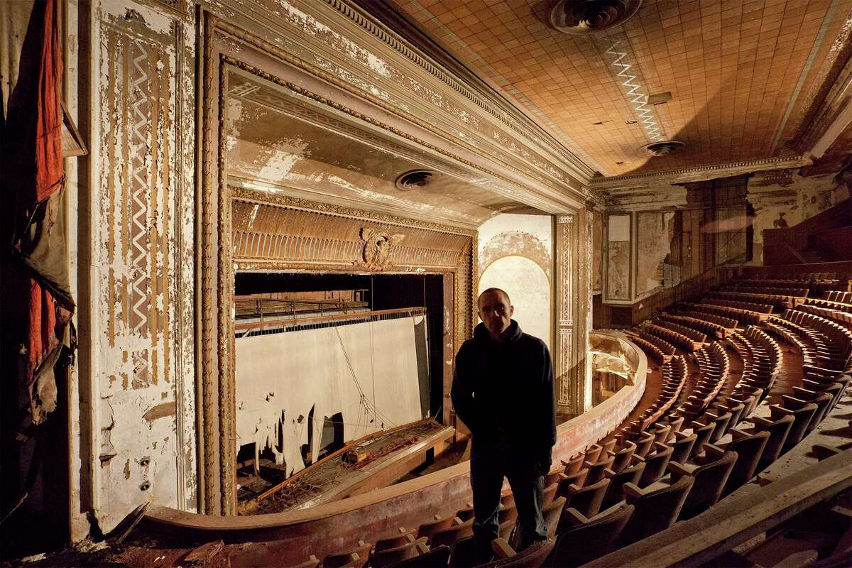 Rob Dobi in the Victory Theater in Holyoke, Mass.