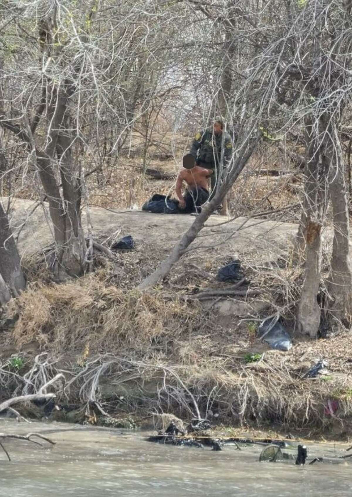 Laredo Sector Border Patrol Marine Unit agents prevented multiple immigrants from crossing the border illegally at the Rio Grande.