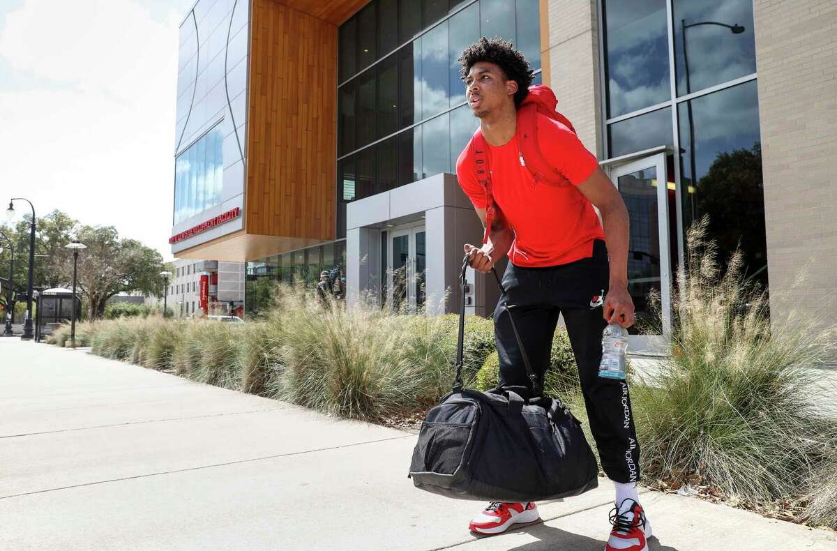 Nate Hinton and the Cougars packed up after coming back to Houston on March 12.