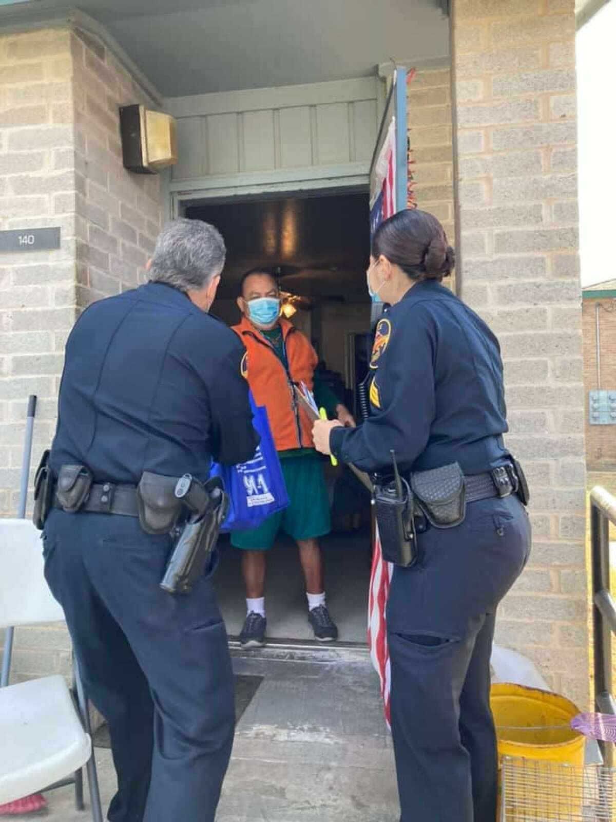Laredo police officers delivered 280 bags of non-perishable food items to elderly people in the community.