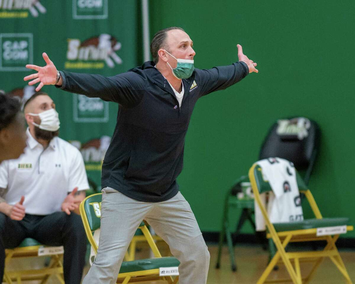 Siena coach Carm Maciariello is reportedly a candidate for the Fordham head coaching position. (Jim Franco/Special to the Times Union)