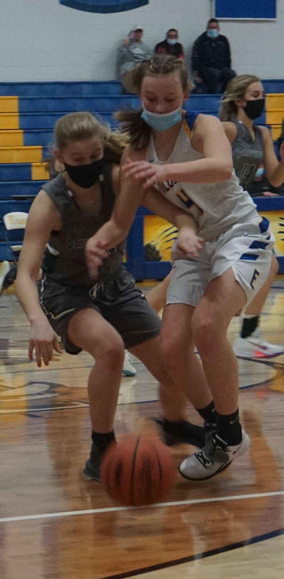 The Evart girls' basketball team defeated Pine River in come-from-behind fashion at home on Friday night.