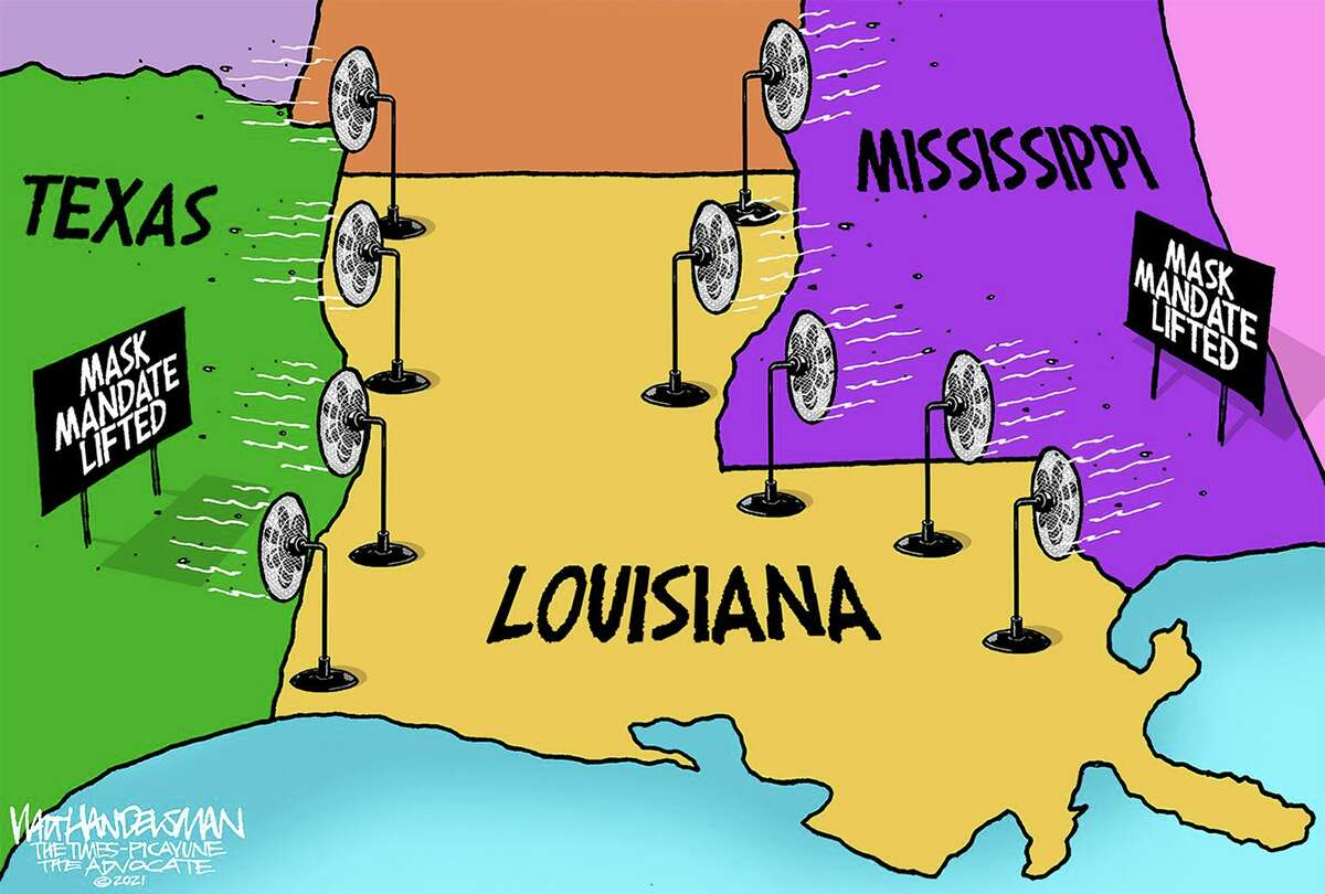 Walt Handelsman's editorial cartoon for the New Orleans Times Picayune.