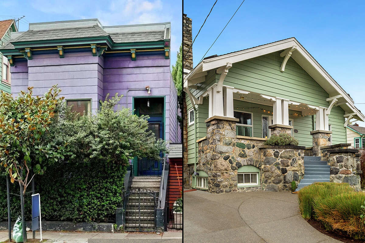 A home for sale in San Francisco (left) compared to one in Seattle.
