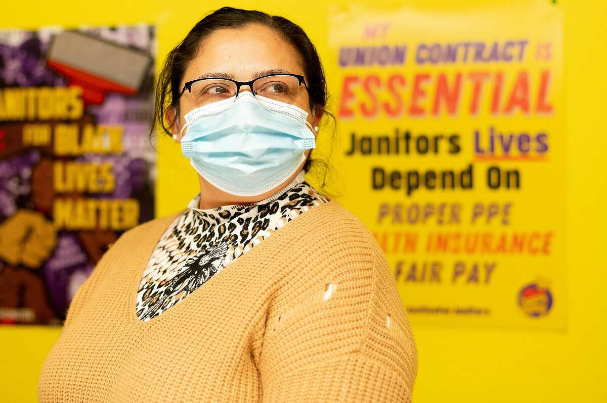 Gloria Espinoza was laid off in April from her night-shift janitor job.