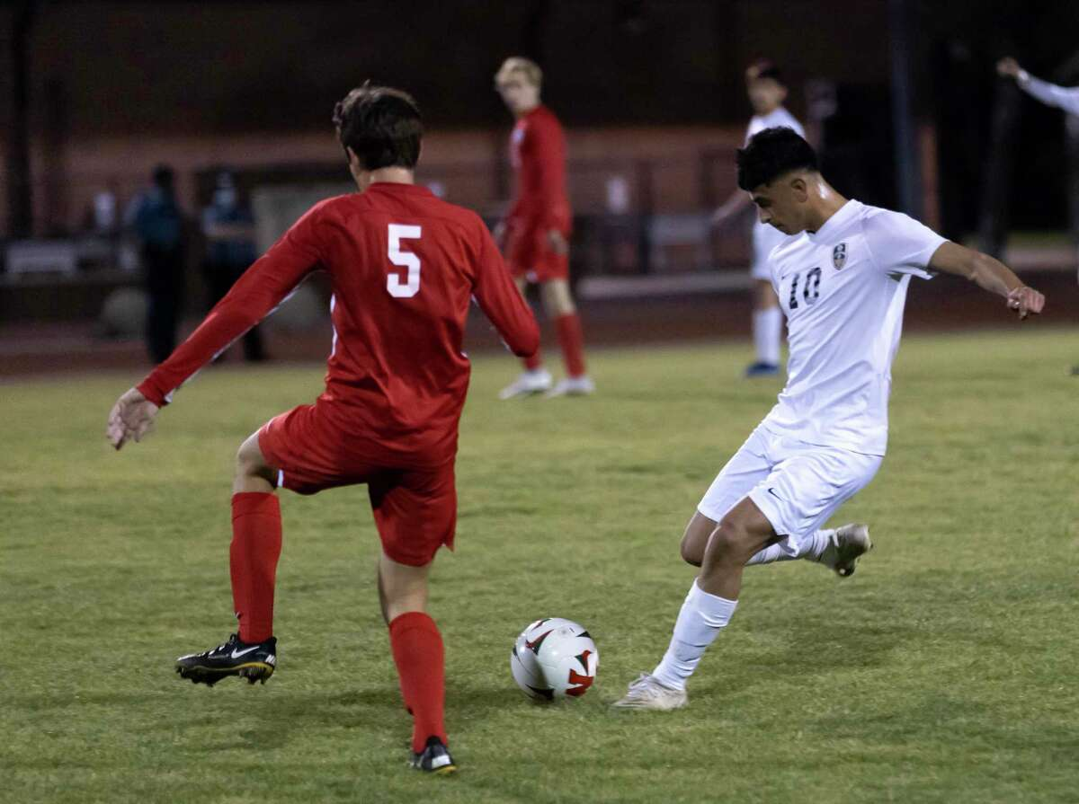 Conroe Daniel Ruiz (10), shown here last month against The Woodlands, scored two goals against Grand Oaks Friday night.