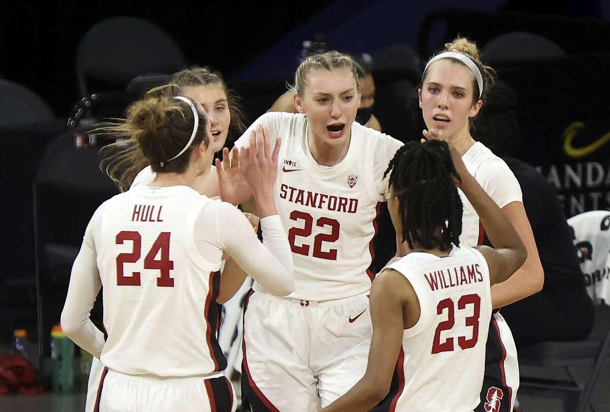Stanford freshman Cameron Brink (22) has 64 blocked shots this season.
