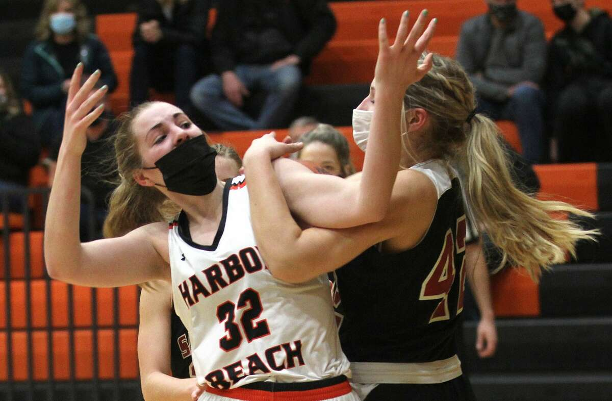 The Harbor Beach girls basketball team overpowered visiting Sandusky on Friday night for a 41-24 victory. It was the Pirates' eighth win in a row.